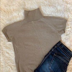 Zara short sleeve turtle knit